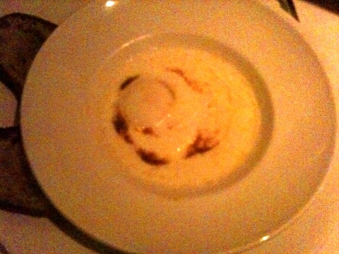 Farm egg and Creme Sauce