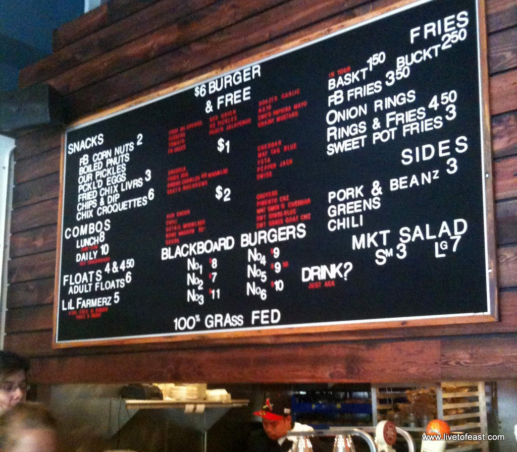 Farm Burger Menu