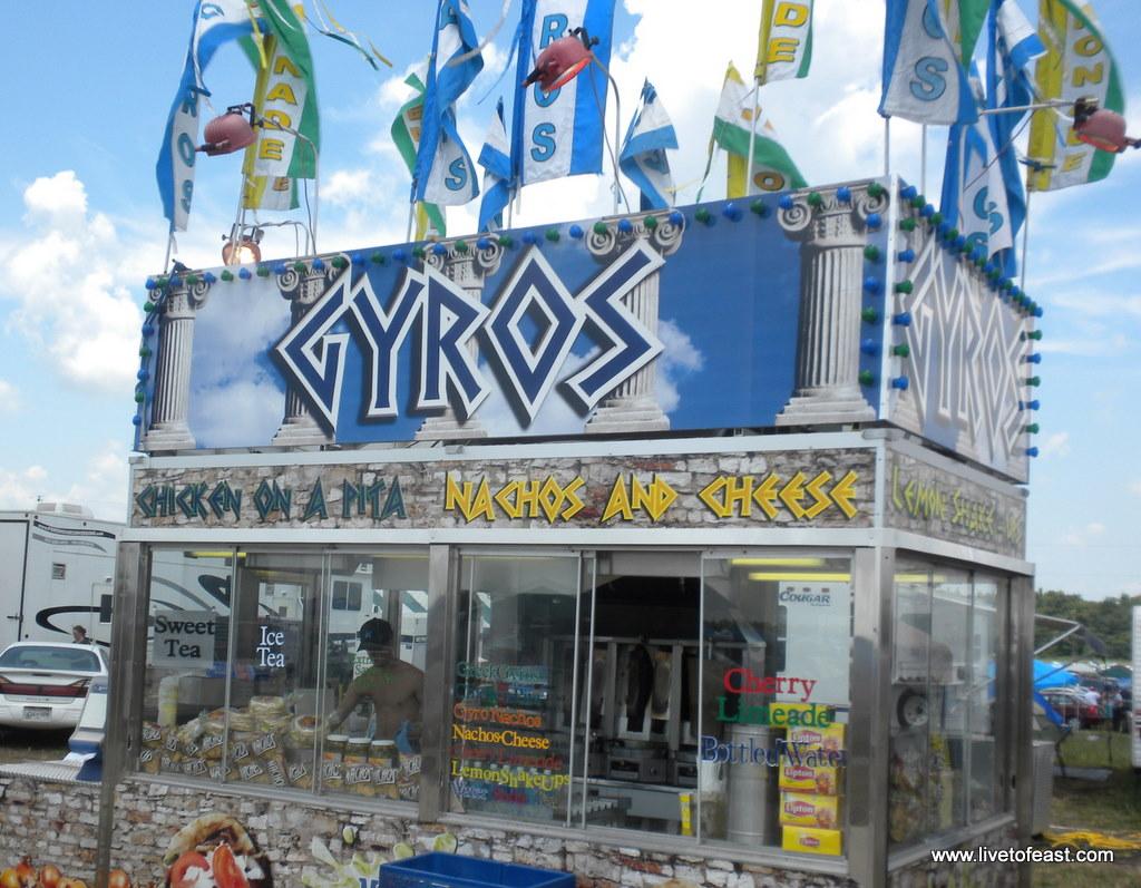 Gyro stand at Bonnaroo