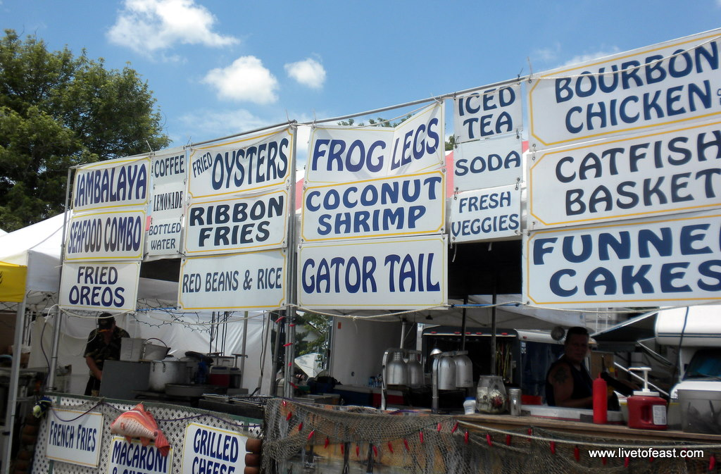 bonnaroo food frog legs